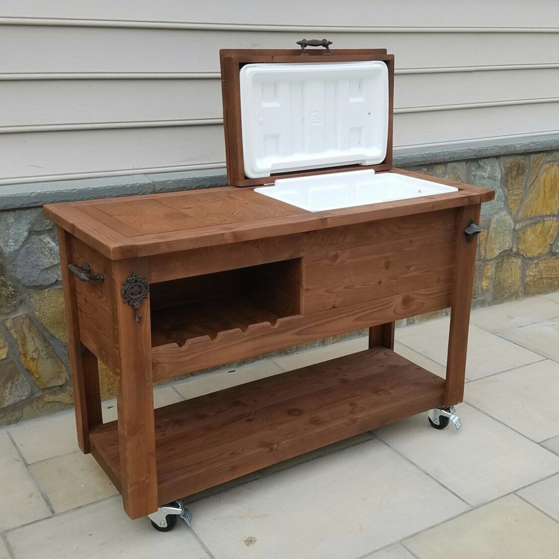 black outdoor side table the outrageous fun bjs end mini fridge best rustic wooden cooler bar cart wine with cozy console your house design refrigerator taking manliness max man