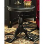 black pedestal accent table khandzoo home decor build dining room unique furniture square patio covers decorative accents for living circular legs small garden wood end barnwood 150x150