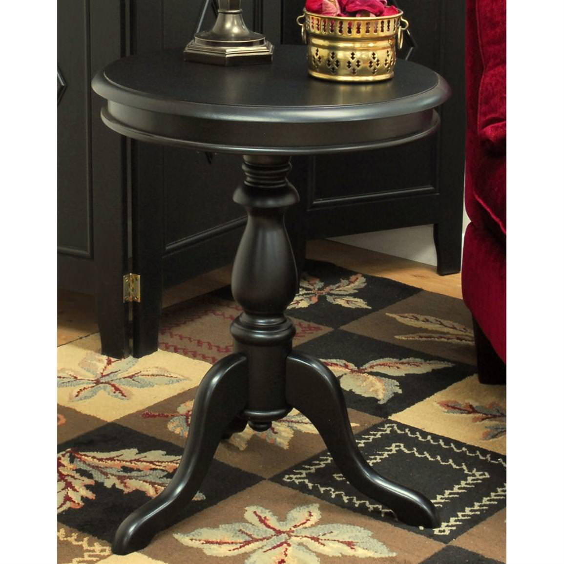 black pedestal accent table khandzoo home decor build dining room unique furniture square patio covers decorative accents for living circular legs small garden wood end barnwood