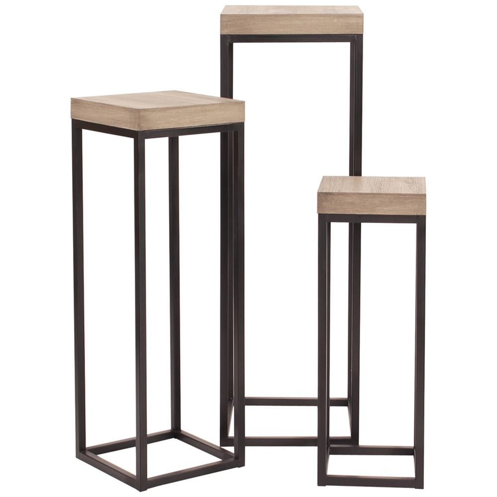 black pedestals brown accent tables transitional pedestal table wood and metal set resin wicker patio furniture clearance console behind sofa target recliners pool lounge chairs
