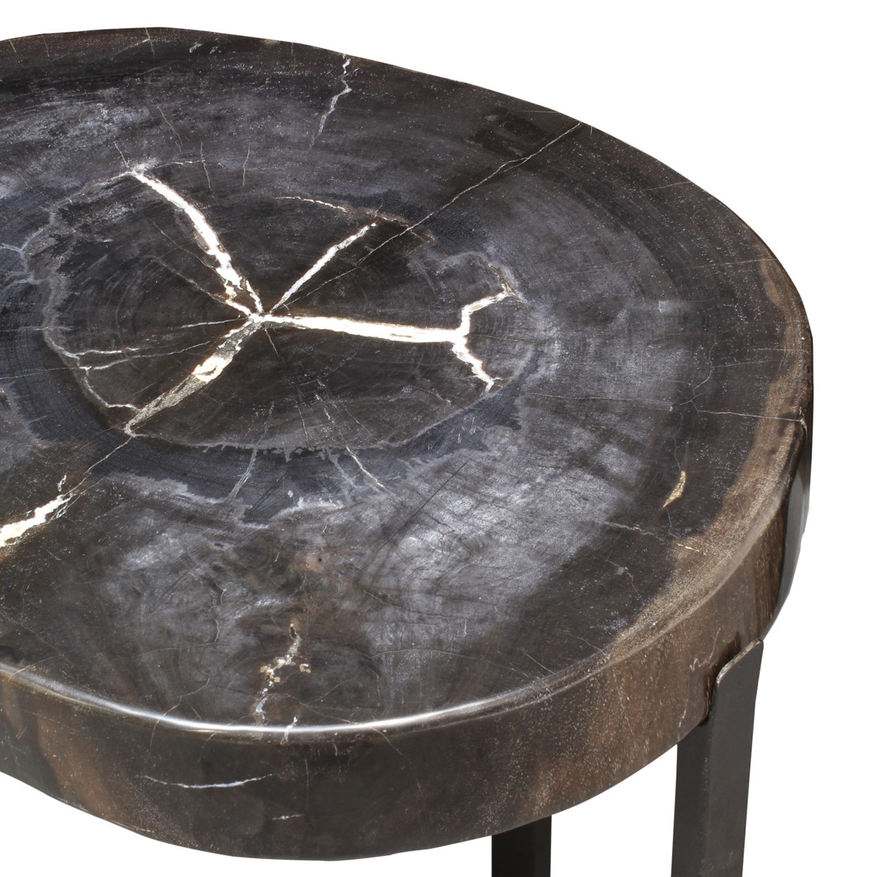 black petrified wood slice table mecox gardens fnst blkpet accent person bar threshold windham cabinet teal marble dinner inch tablecloth patio lawn chairs quatrefoil decor wine