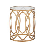 black round glass top rose gold metal side table zuo drawer madison park arlo eyelet accent homepop solid wood console target dining centerpiece ideas for home ikea base tall bar 150x150