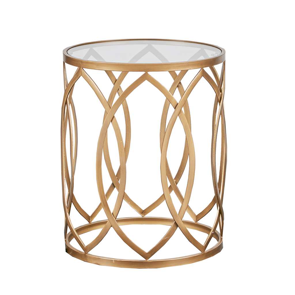 black round glass top rose gold metal side table zuo drawer madison park arlo eyelet accent homepop solid wood console target dining centerpiece ideas for home ikea base tall bar
