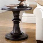 black round pedestal end table home sweet pottery accent pub style set mats and coasters dining with wicker chairs target bar cart single wine rack lamp sets homes fabric 150x150