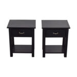 black side table with drawer design ideas pottery barn single tables used winsome timmy accent off farmhouse drop leaf metal wood top battery operated desk lamp hall console kmart 150x150