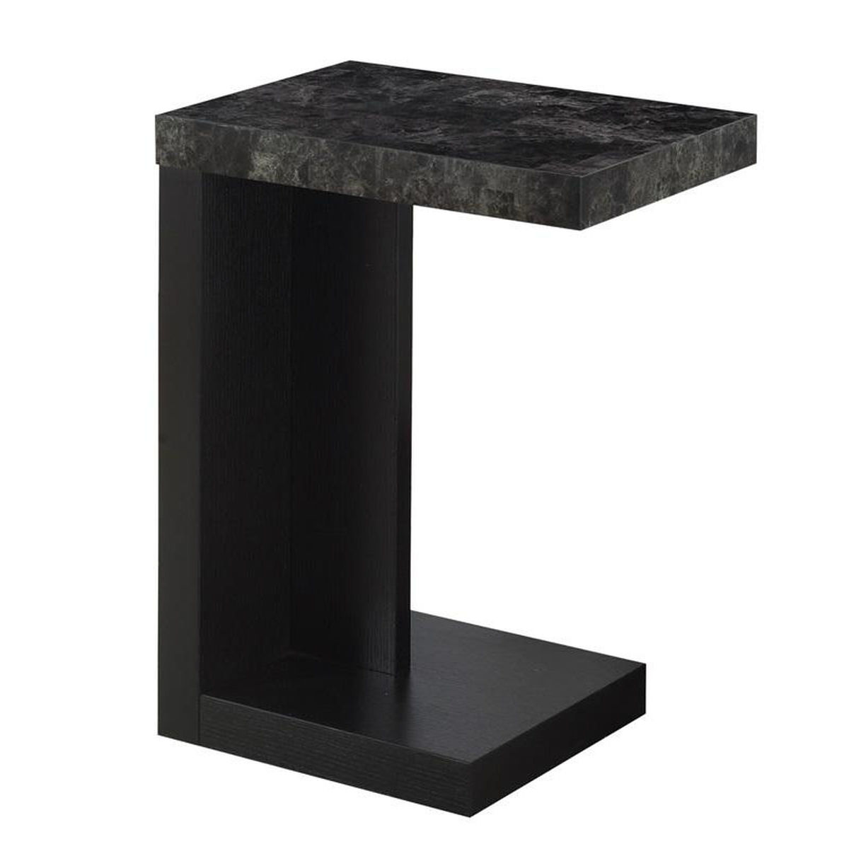 black sofa accent table bizchair monarch specialties msp main faux marble our modern slide under with gray top unfinished chairs garden storage solutions small half moon end