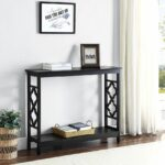 black sofa table furniture console modern accent wood entryway tables hallway shelf new end date monday pst now round piece coffee retro reproduction lucite lawn umbrella 150x150