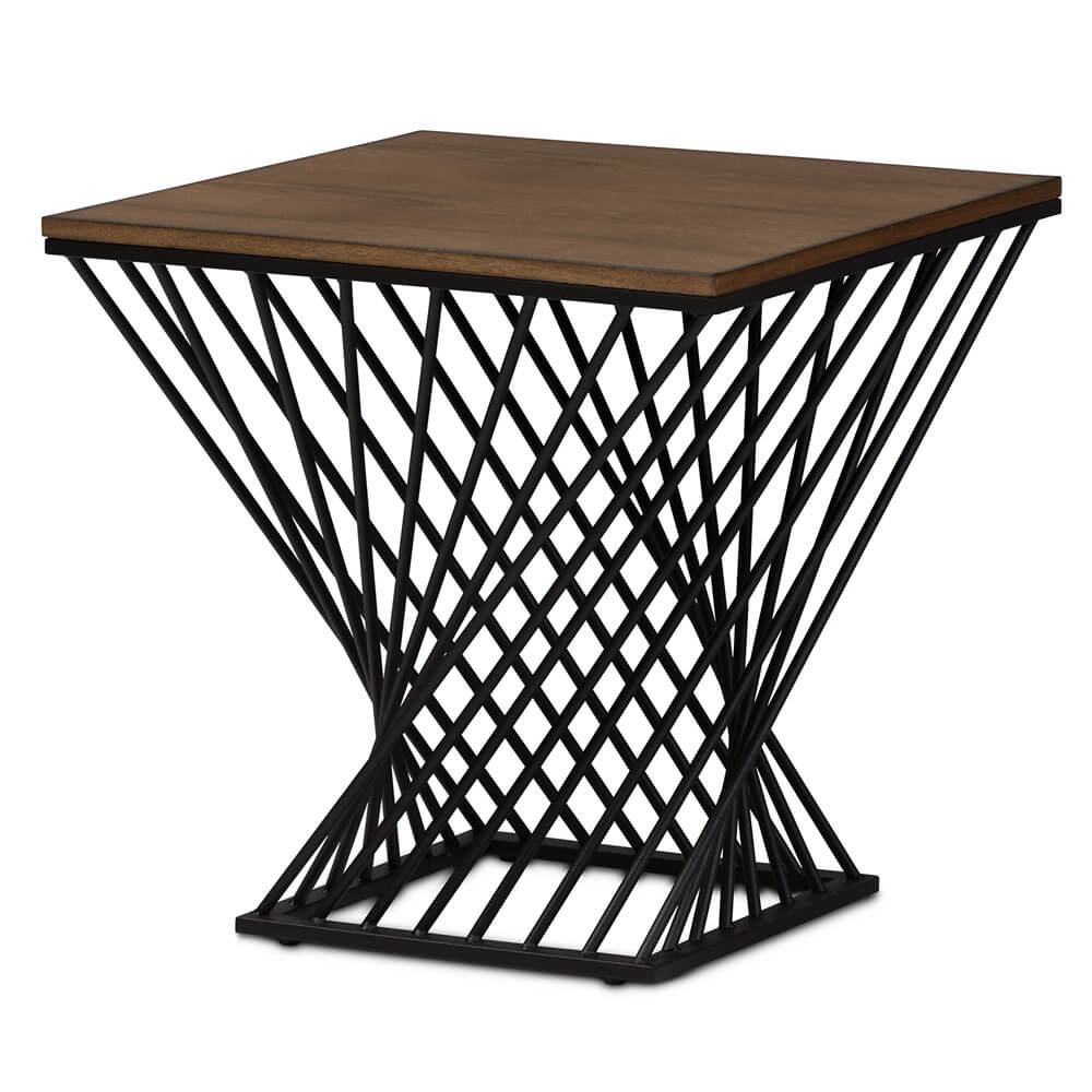 black wire wood twist side table modern furniture brickell outdoor mat for dining living room shelves cherry and chairs big garden umbrella marble bedside target sears coffee