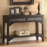 black wood console table steal sofa furniture los angeles tall accent with storage wicker patio quatrefoil coffee ikea pot rack small dining and chairs outdoor pottery barn high 150x150