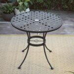 black wrought iron patio table find accent get quotations dining sturdy construction umbrella hole oval shape lightweight small corner bar height with leaf white night orange 150x150