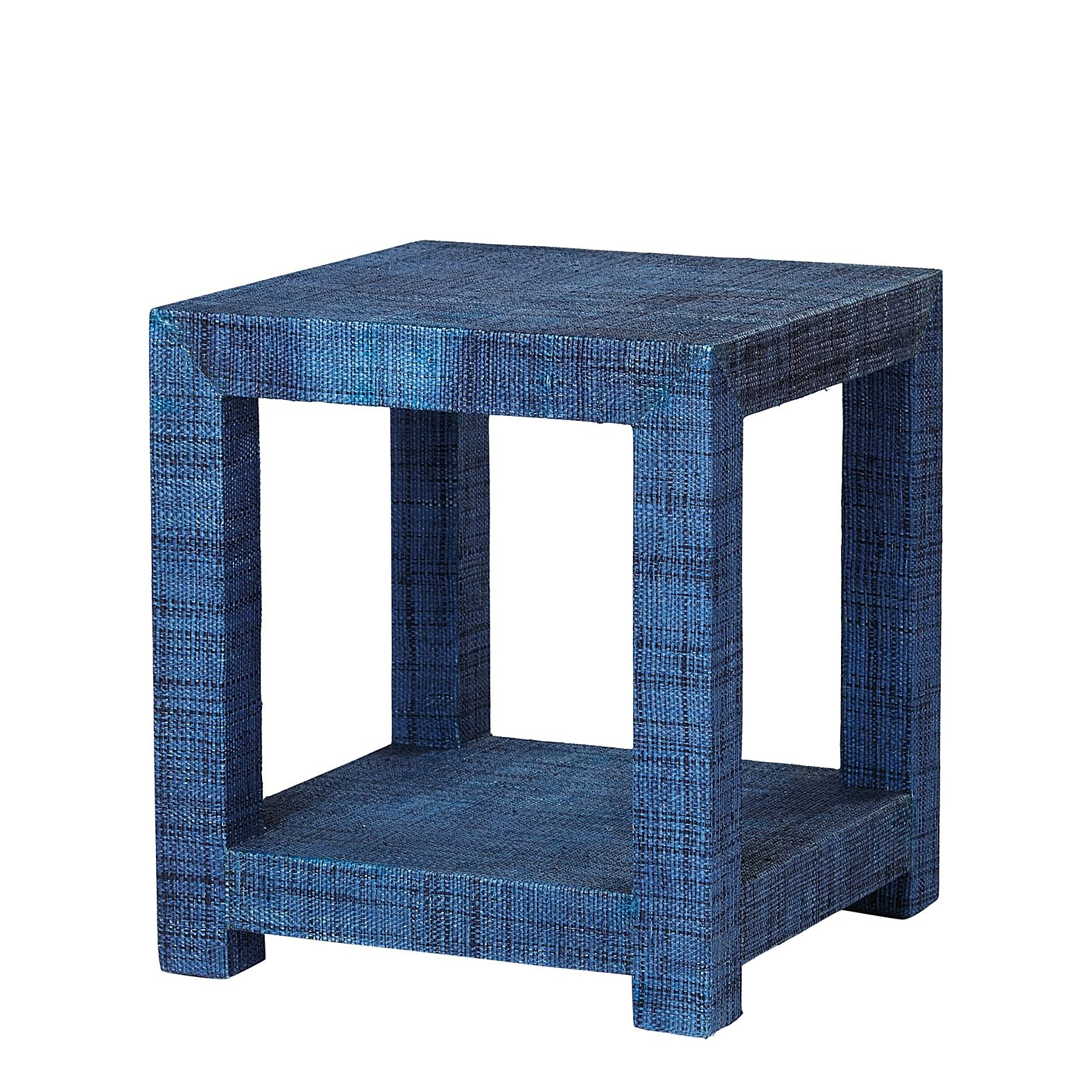 blake raffia side table navy serena lily furniture tables accent white chest harvest dining pottery barn small folding end wood feet round tablecloth wine rack and chairs nautical