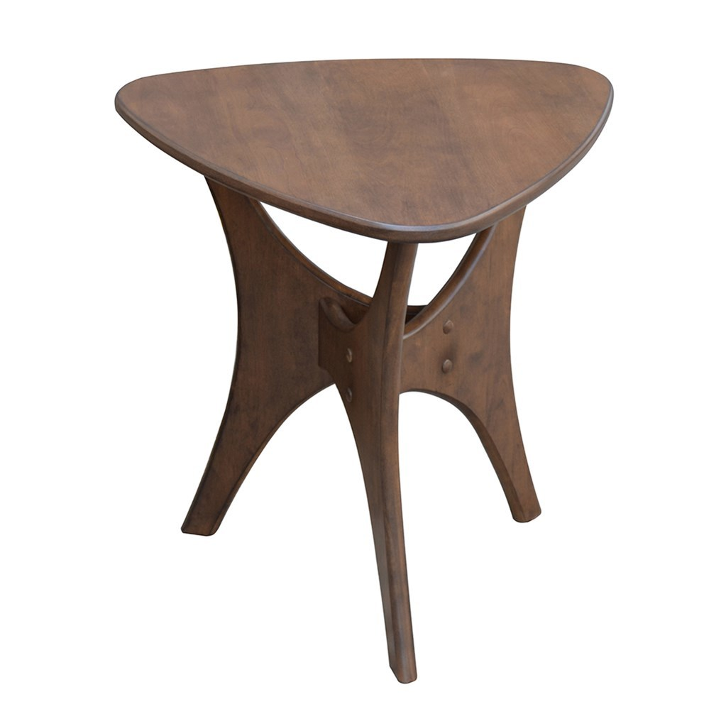 blaze triangle wood side table american home furniture and outdoor pier dining round coffee end tables trestle base west elm acorn ethan allen nesting coloured glass modern sets