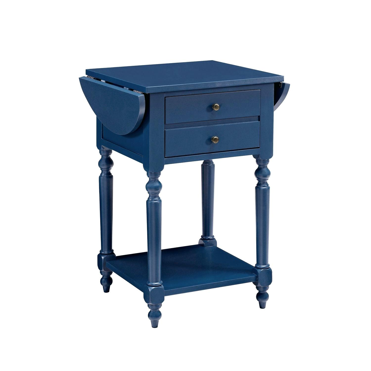 blue accent table navy side stylish outdoor red room essentials stacking metal clock patio furniture covers with tray butler round small ikea gallerie beds garden wood stump
