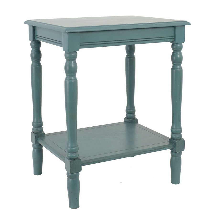 blue accent table round decor therapy simplify end teal laminated tablecloth outdoor side cover white drop leaf modern nesting tables clear plastic pier one chairs piece patio