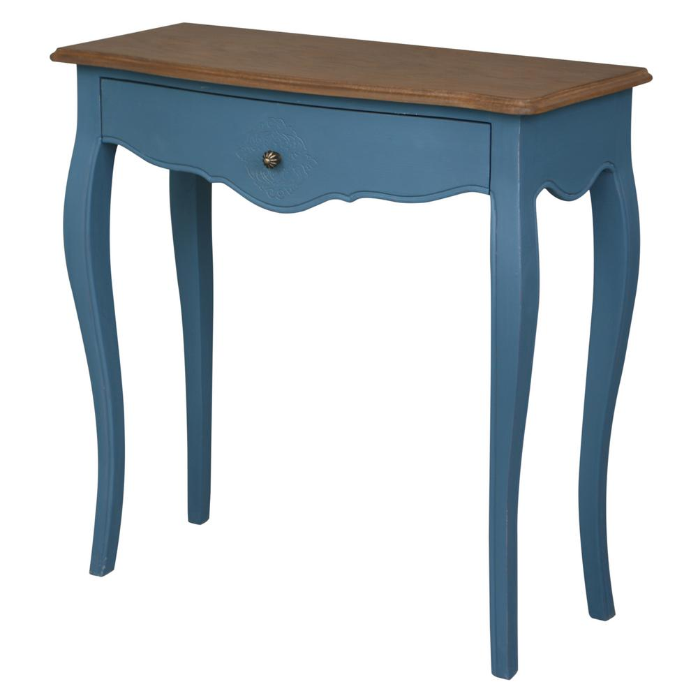 blue accent tables living room furniture the antique console str navy table ashbury stradivarius oak veneer and drawer gold square glass coffee harvest dining pottery barn outdoor