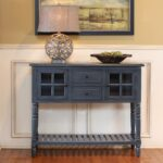 blue accent tables living room furniture the antique navy decor therapy console table morgan door narrow patio target threshold rustic coffee with storage reclaimed wood 150x150