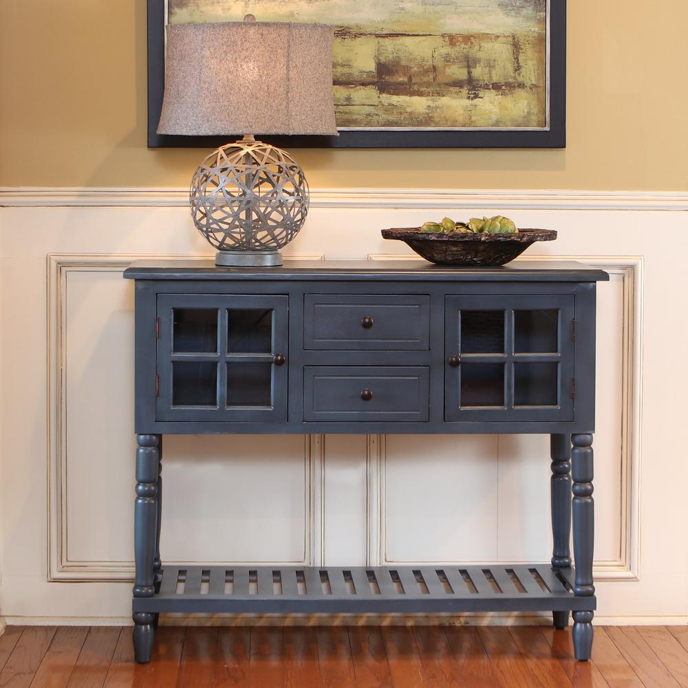 blue accent tables living room furniture the antique navy decor therapy console table morgan door narrow patio target threshold rustic coffee with storage reclaimed wood
