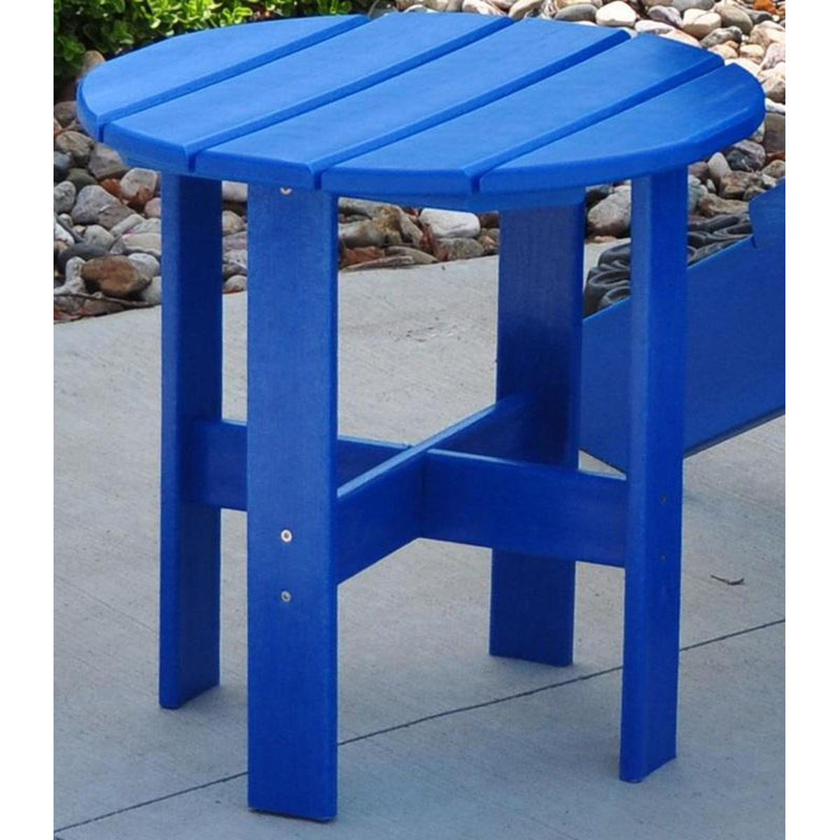 blue adirondack side table adtrastblu bizchair jayhawk plastics jay main outdoor accent our traditional recycled plastic now battery lamps light bulb changer pole small oak coffee