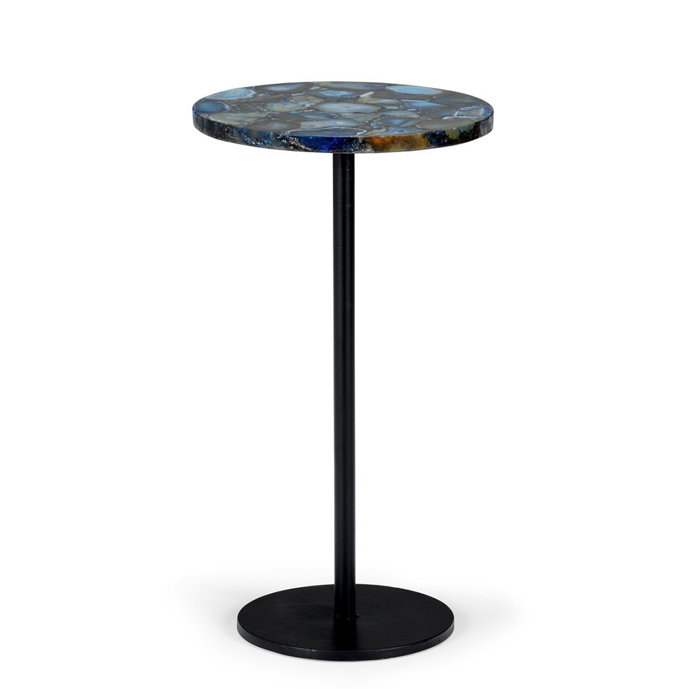 blue agate side table geode stone chelsea house accent gold drum end affordable leather sofa tables living room furniture changing cover marble dining set tiffany pond lily lamp
