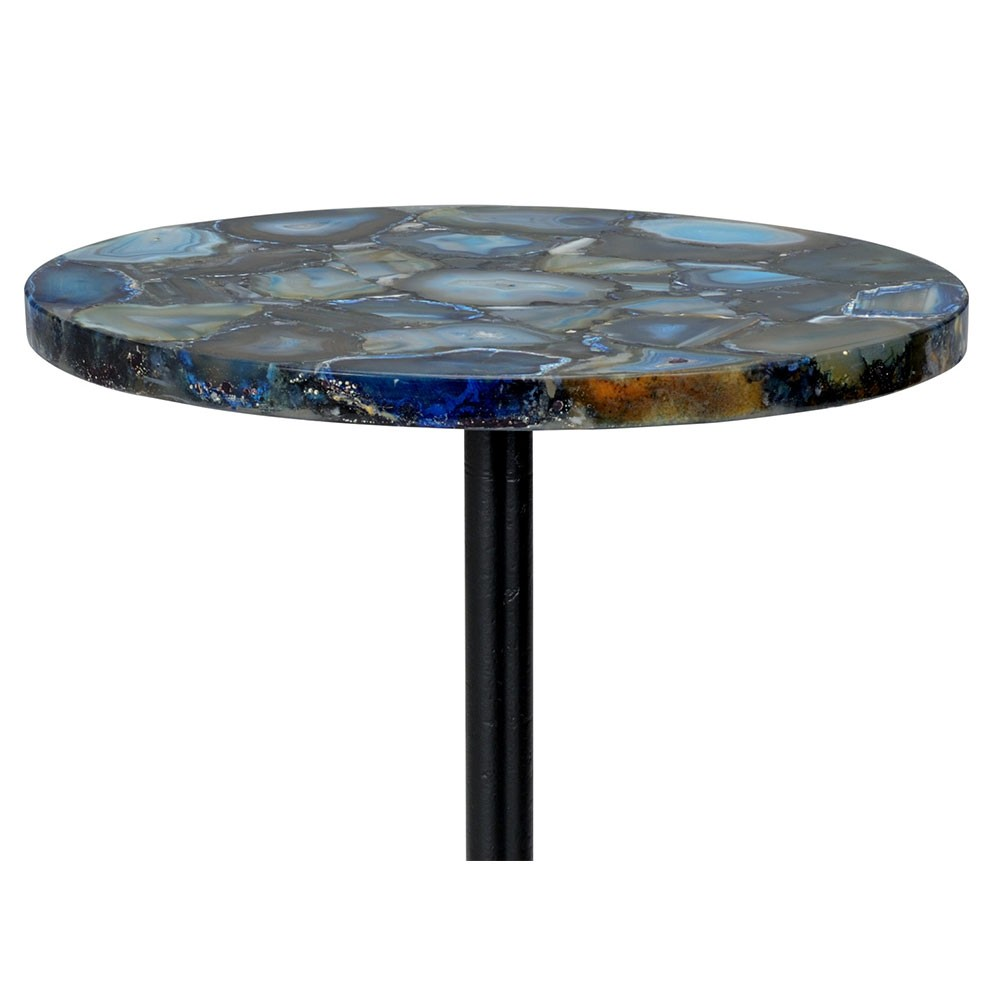 blue agate side table geode stone chelsea house glass accent top cement outdoor designer and chairs round wood nesting tables outside umbrella stand small dark telephone white