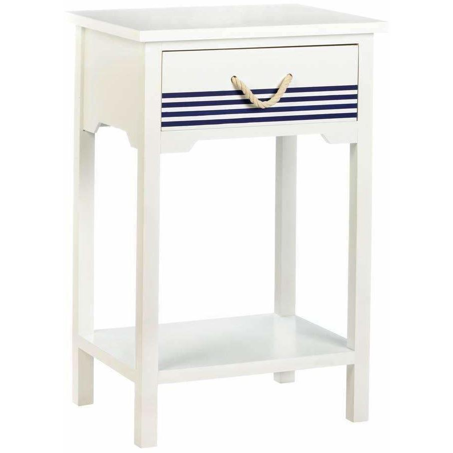 blue and white nautical accent table adley company inc cabinet lily lamp glass tables toronto high bar chair set breakfast stools console with shelves tiffany furniture designer