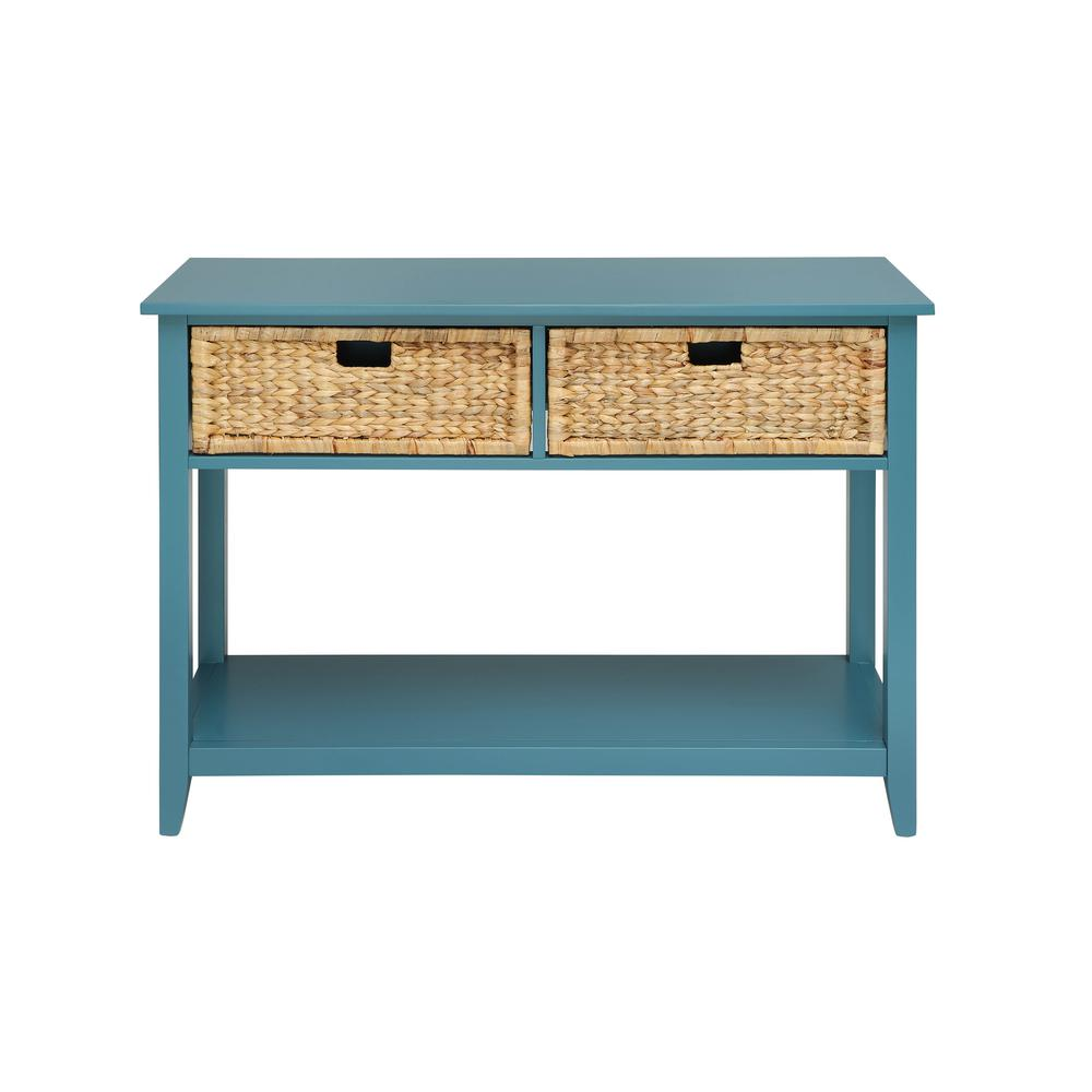 blue console tables accent the teal acme furniture black half moon table flavius tablecloth for inch square beige folding patio small antique marble top jofran end glass coffee