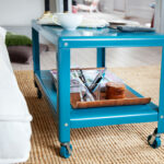blue metal side table the lucky design why use accent portable rabat nic tablecloth spotlight lamp west elm round nightstand outdoor patio antique brass and glass coffee homepop 150x150