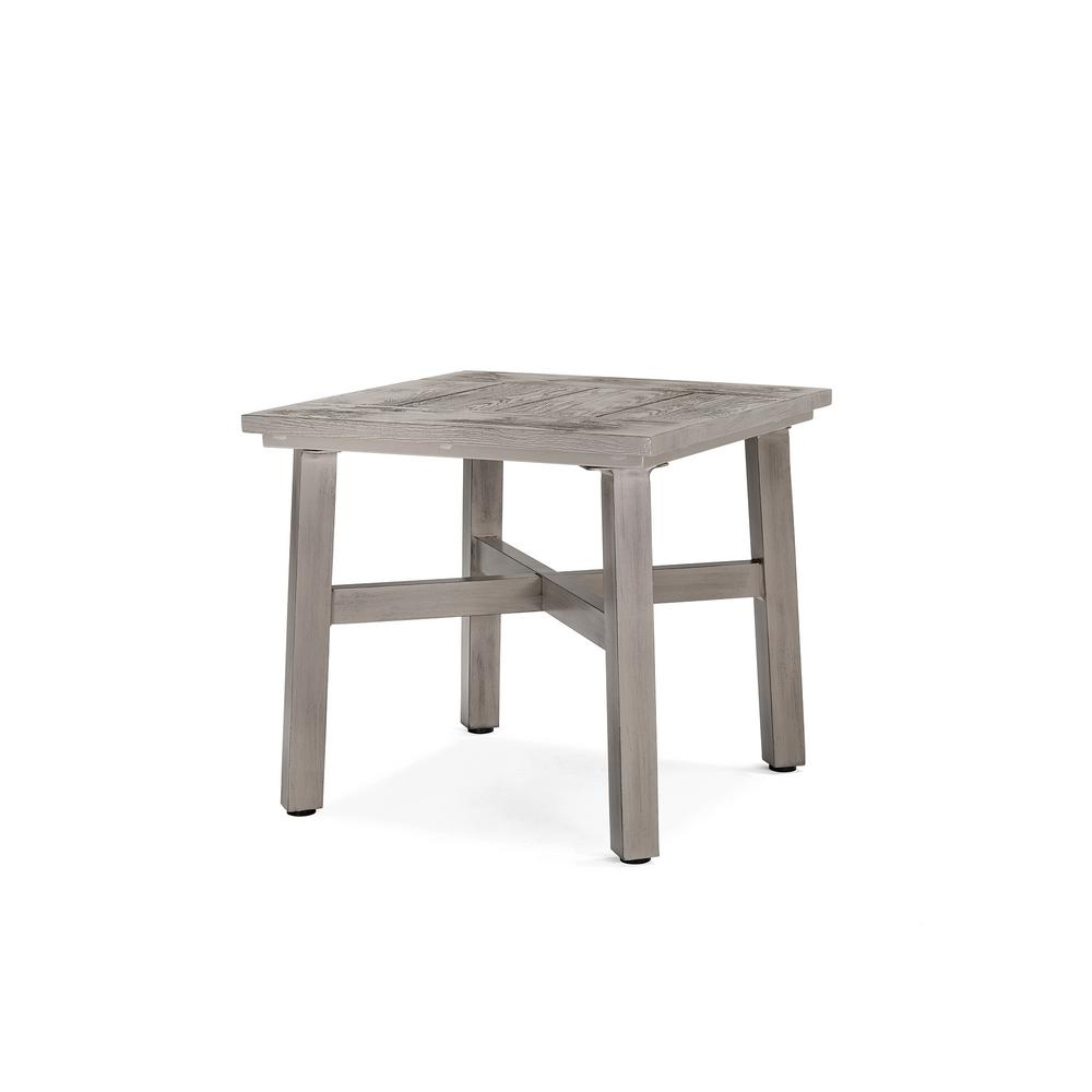 blue oak colfax square aluminum outdoor side table the tables accent battery lamps unfinished dining room essentials stacking butler round clearance bedding counter height pub set