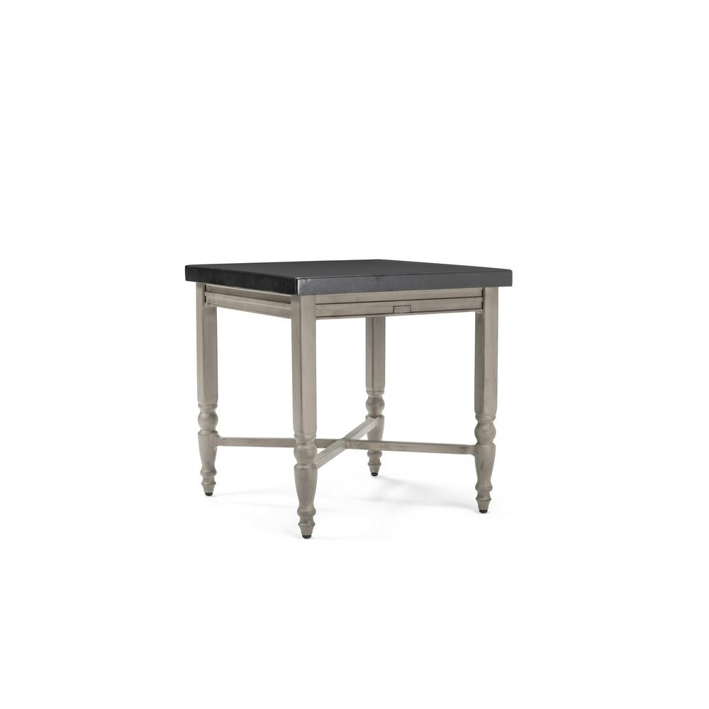 blue oak saylor square aluminum top outdoor side table tables accent gallerie beds pier lawn furniture clearance bedding brown burgundy runner narrow sofa end half circle kitchen