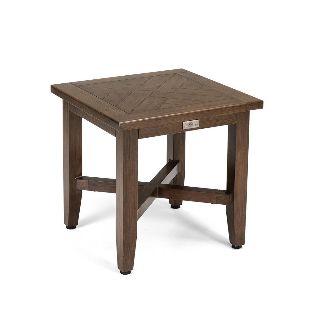 blue oak square aluminum outdoor side table the tables accent clearance bedding target wood jcpenney quilts narrow sofa end room essentials stacking brown chest garden storage
