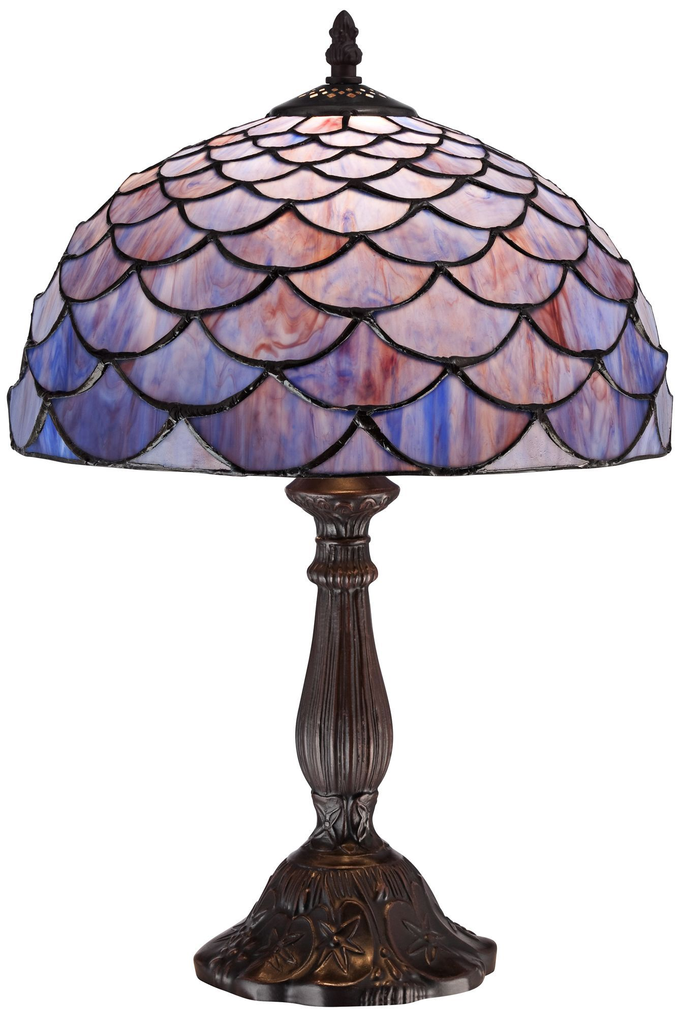 blue shell tiffany style accent table lamp lamps fpx backyard shade structures chair side tables living room drum seat with back brass inexpensive end for classic modern chairs