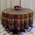 blue tablecloths our best table linens handmade mandala floral and elephant printed cotton tablecloth available red brown two sizes round accent cloth decor small garden furniture 150x150