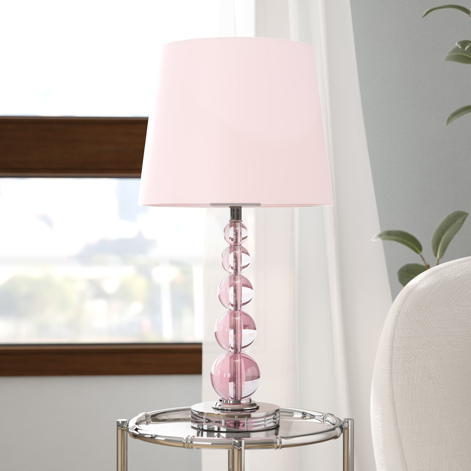 blush pink lamps ashford table lamp frosted glass cylinder accent nautical kitchen pendant lights round cloth inch tablecloth beautiful nesting tables rechargeable battery powered