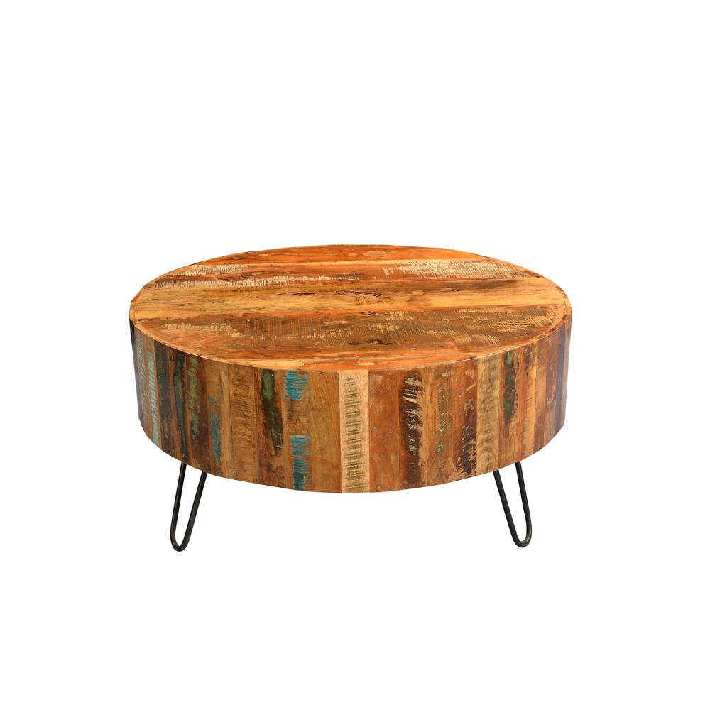 bohemian accent tables living room furniture the multi colored coffee distressed round black pedestal table tulsa reclaimed wood with hairpin legs wrought iron lamps and metal