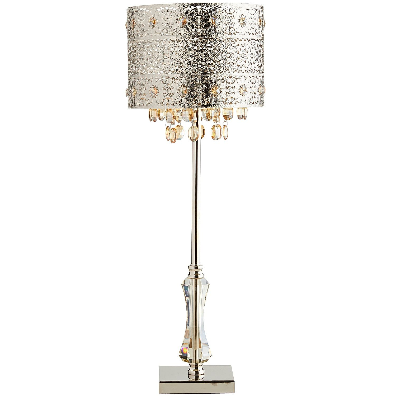 bohemian crystal table lamp pier imports accent decorative objects for home round garden coffee contemporary tables toronto antique retro furniture cocktail linens rustic
