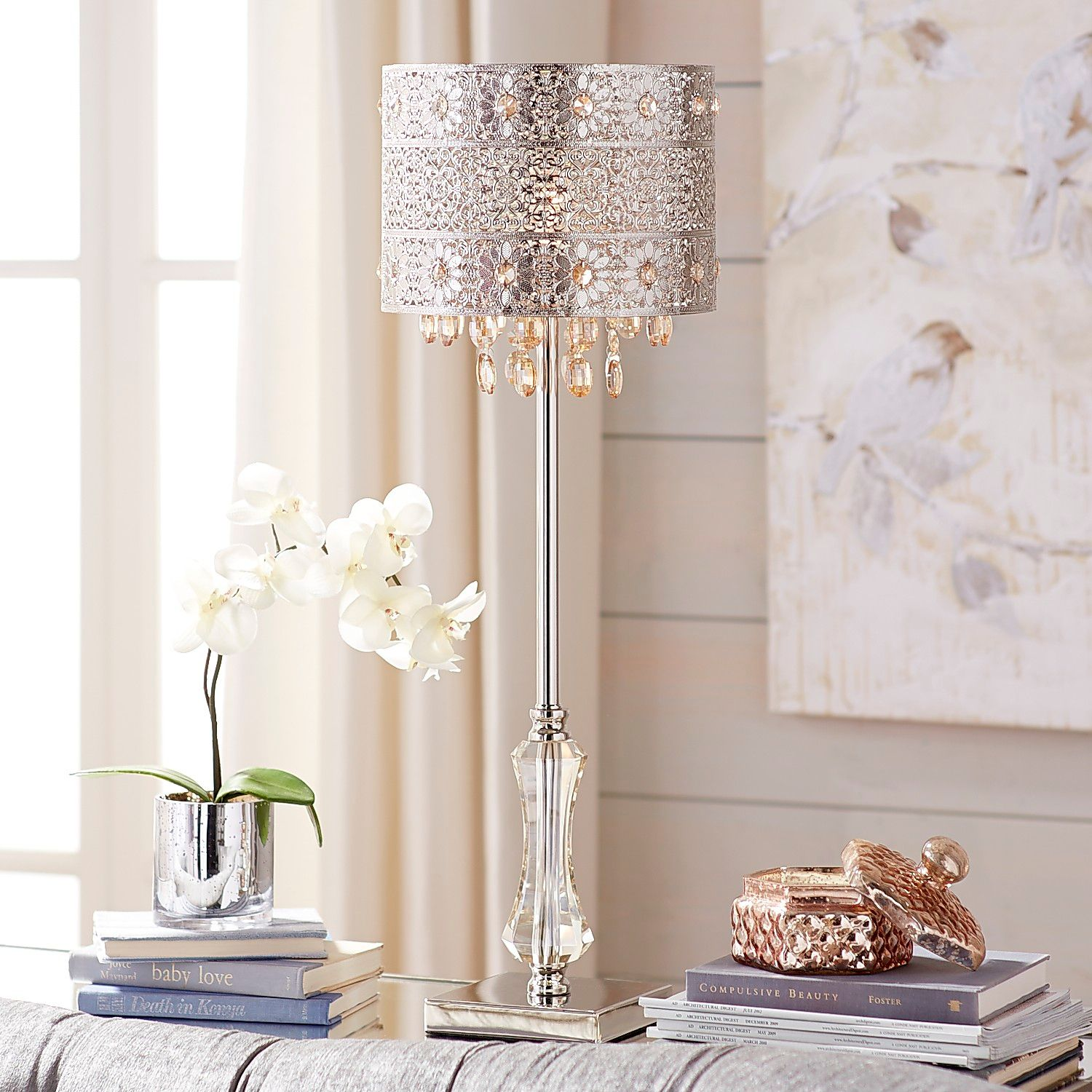 bohemian crystal table lamp pier imports one accent lamps cool retro furniture cordless for living room that use batteries antique stand narrow tray bunnings outdoor sun lounges