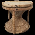 boho chic rattan hourglass side table chairish accent outside cover cool lamps cherry dining room furniture affordable bedroom sets medium oak console west elm mobile chandelier 150x150