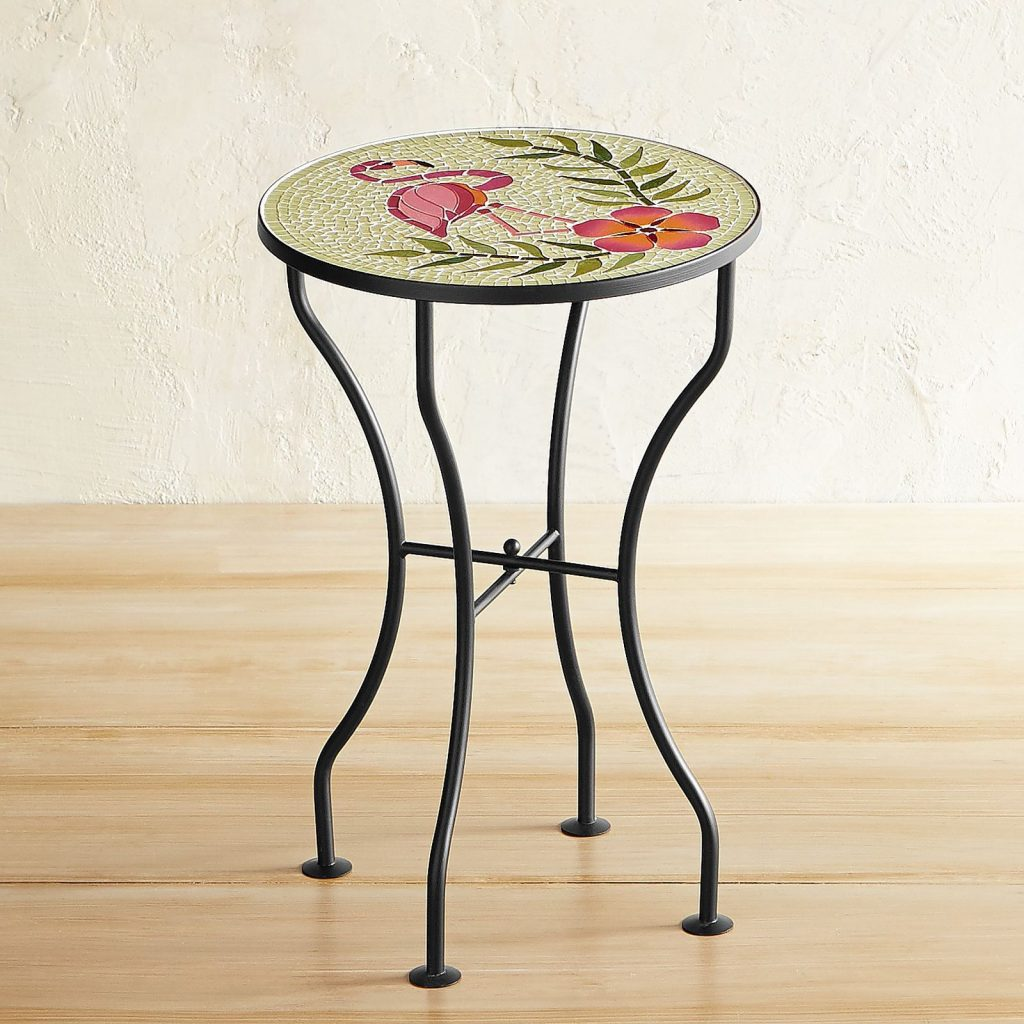 bold outdoor bistro tables for your patio finding sea turtles table flamingo mosaic accent bistrotables smallspace smallspaceliving outdoorliving counter high kitchen pottery barn