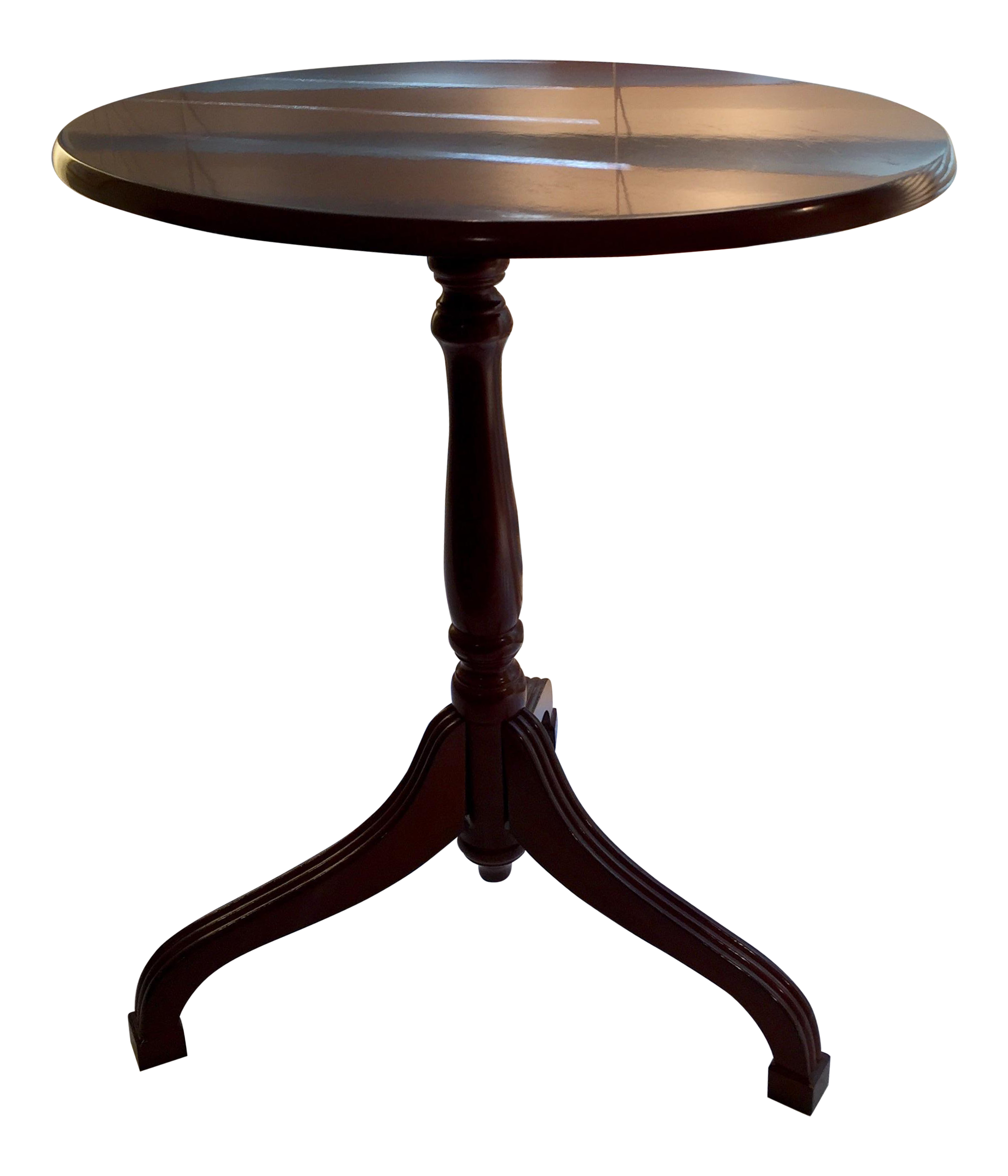bombay company flip top cherry tripod side table chairish marble accent white round clearance wicker outdoor furniture small glass lamps tall bedside nautical hampton bay patio