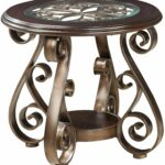 bombay old world end table with glass top and scroll legs company marble accent standard furniture great american home memphis southaven round nightstand tablecloth acrylic side 150x150