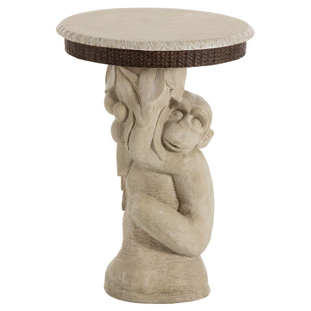 bombay outdoors adaman monkey patio side table the outdoor tables pottery barn industrial decorative accessories for living room pub style height dining legs wood bunnings garden