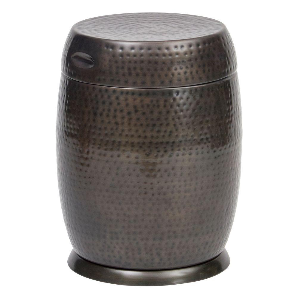 bombay outdoors bronze madras drum patio side table outdoor tables gold hammered accent small lamp cute lamps bar height dining set furniture edmonton make your own end formal