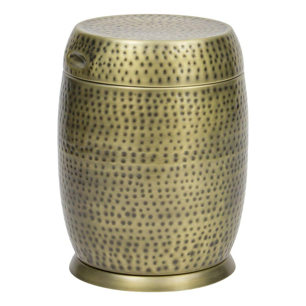 bombay outdoors gold madras drum patio side table the outdoor tables hammered accent vinyl tablecloth ethan allen drop leaf coffee make your own end west elm carpets furniture