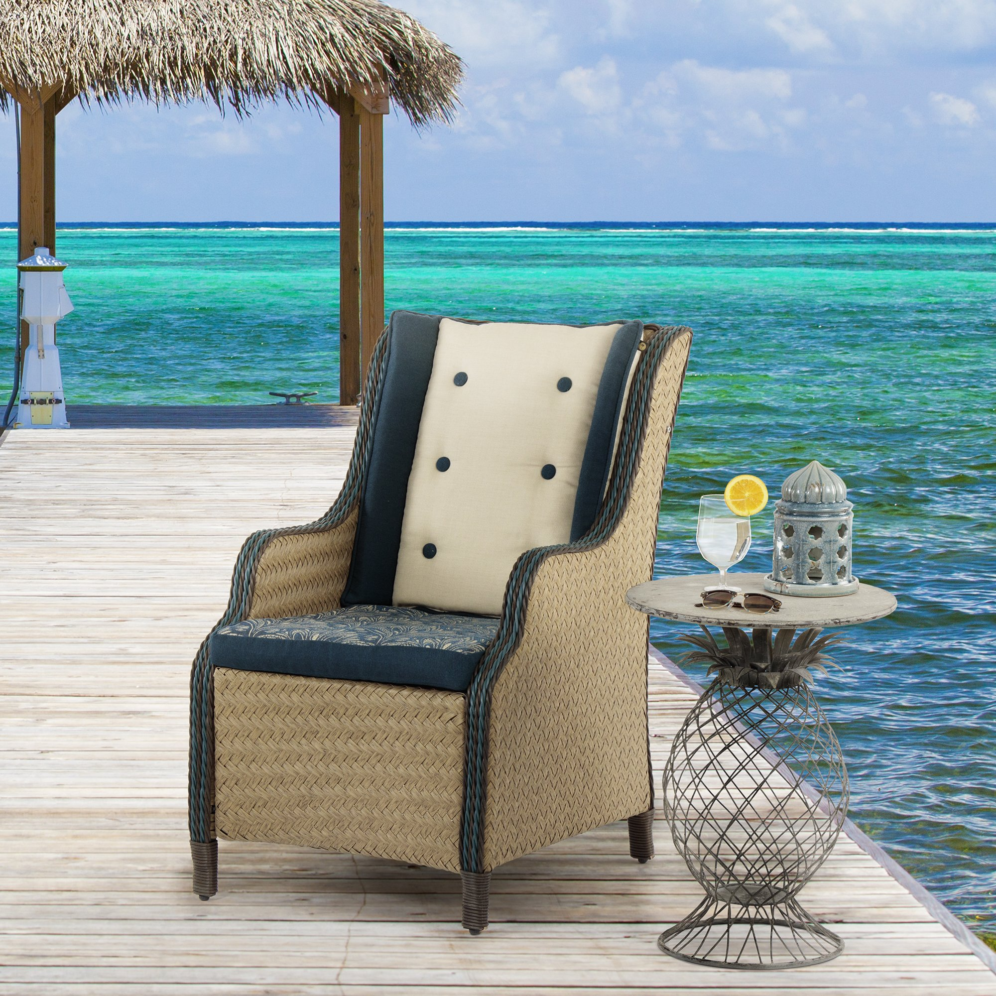 bombay outdoors kailua pineapple table free shipping today umbrella accent outdoor setting wooden garden and chairs fireplace wood pedestal end glass top entry round cloths