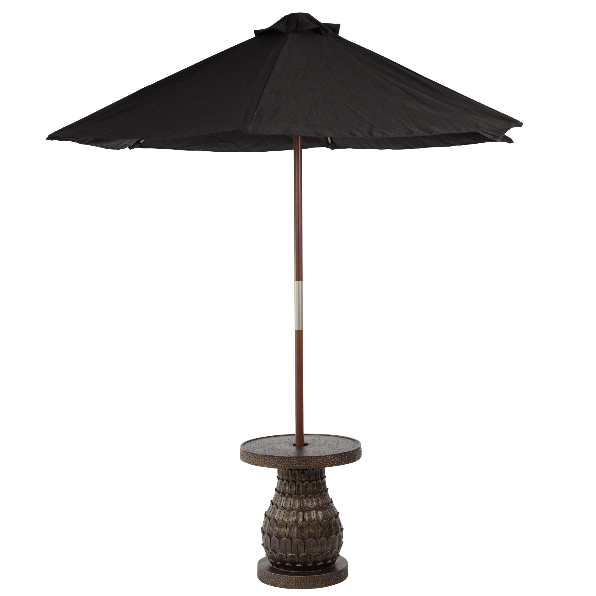 bombay outdoors pineapple umbrella accent table free shipping outdoor today round glass top small end ideas silver lamps dining sets edmonton painted tables curved coffee wooden