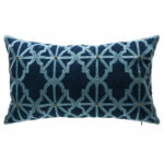 bombayoutdoors arabesque indigo lattice outdoor lumbar pillow bombay outdoors pineapple umbrella accent table trestle bench legs red runner and placemats west elm ott fireplace 150x150