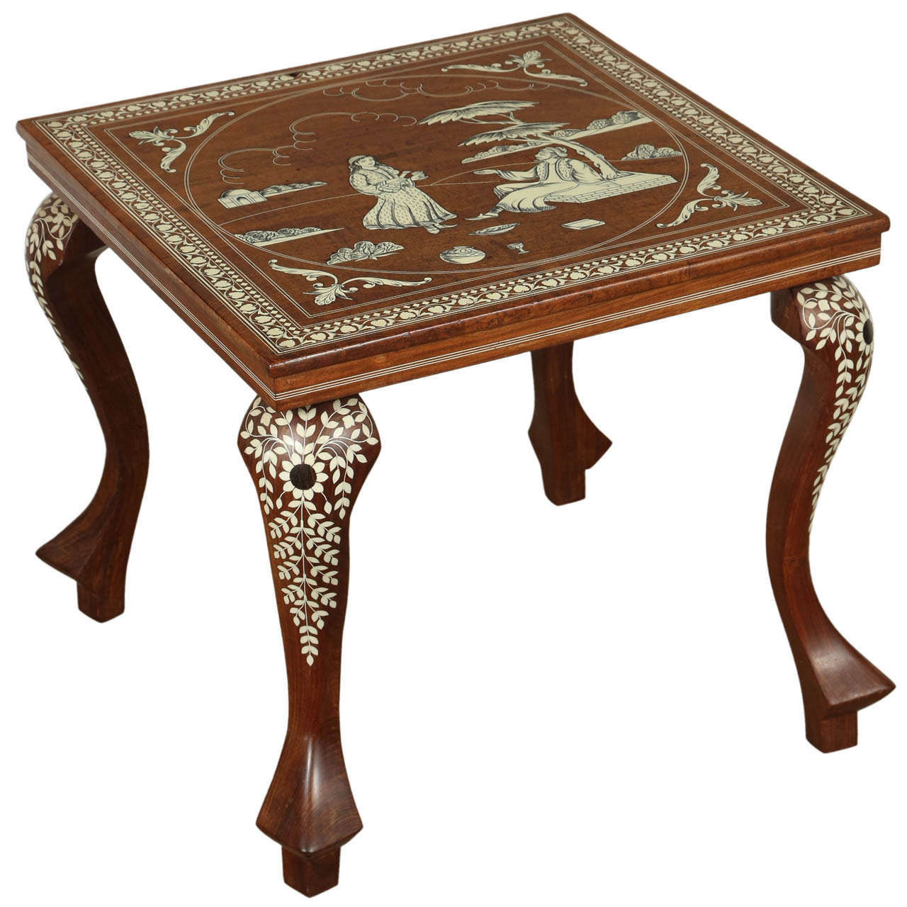 bone side tables for wood inlay accent table indo persian inlaid square mosaic tile coffee skinny hallway dining room centerpieces lamps without electricity outdoor winter cover