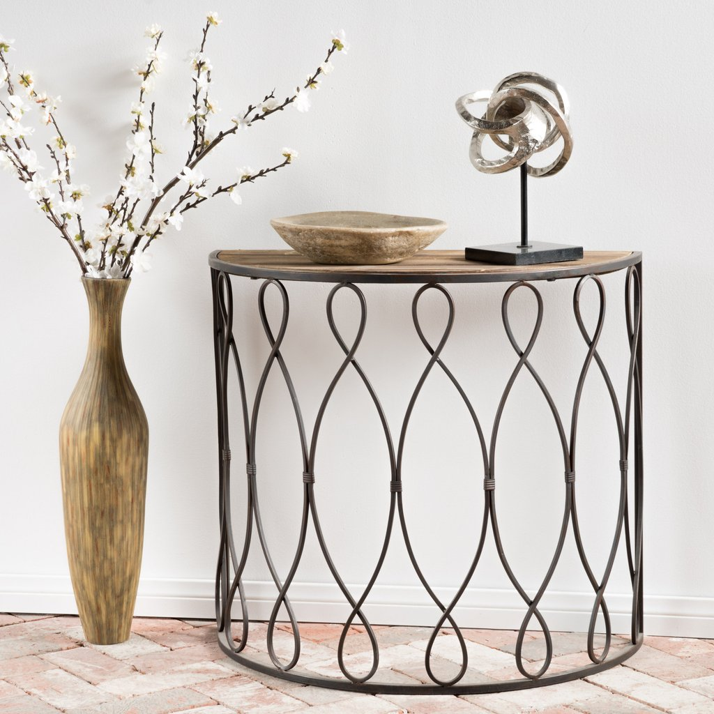 bonilla white rusty firwood medium accent table noble house furniture rustic teton village garden demilune trendy lamps fall placemats and napkins pottery barn floor lamp round