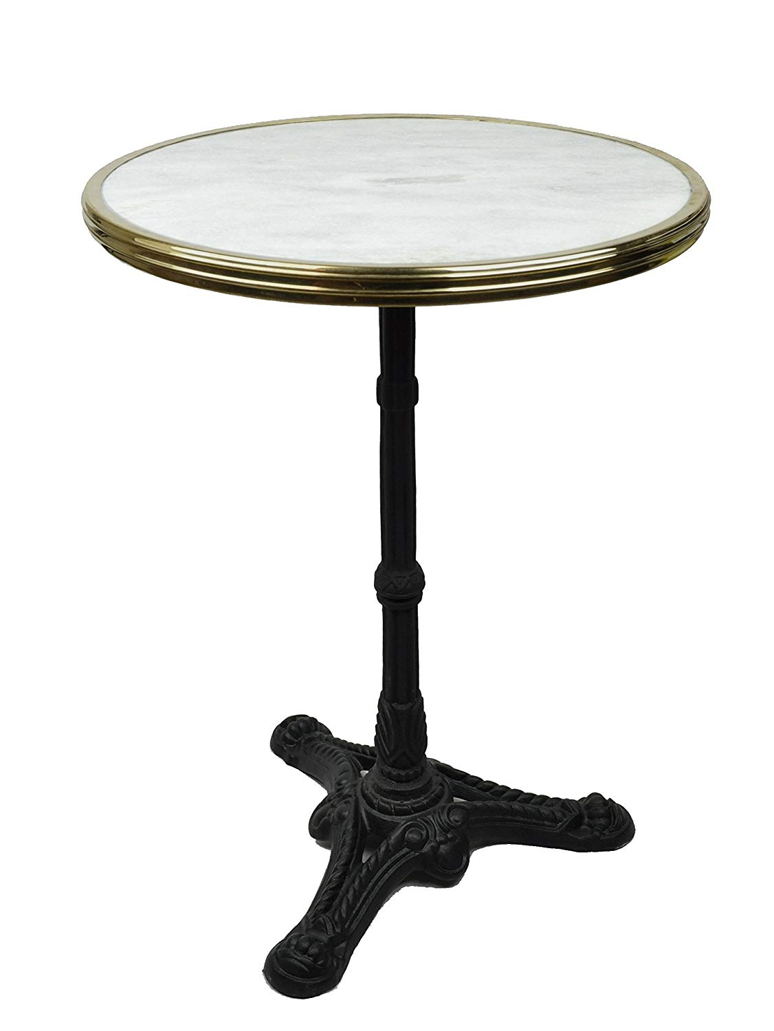 bonnecaze absinthe home french bistro table white marble accent iron base kitchen cast aluminium garden furniture accents dishes round bedside covers rod frame yellow small