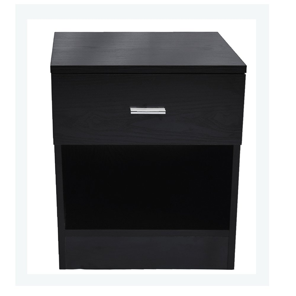 bonnlo nightstand square side end table with storage black accent drawer kitchen dining mango coffee round tablecloth for bedside home furnishing items wood room and chairs sofa